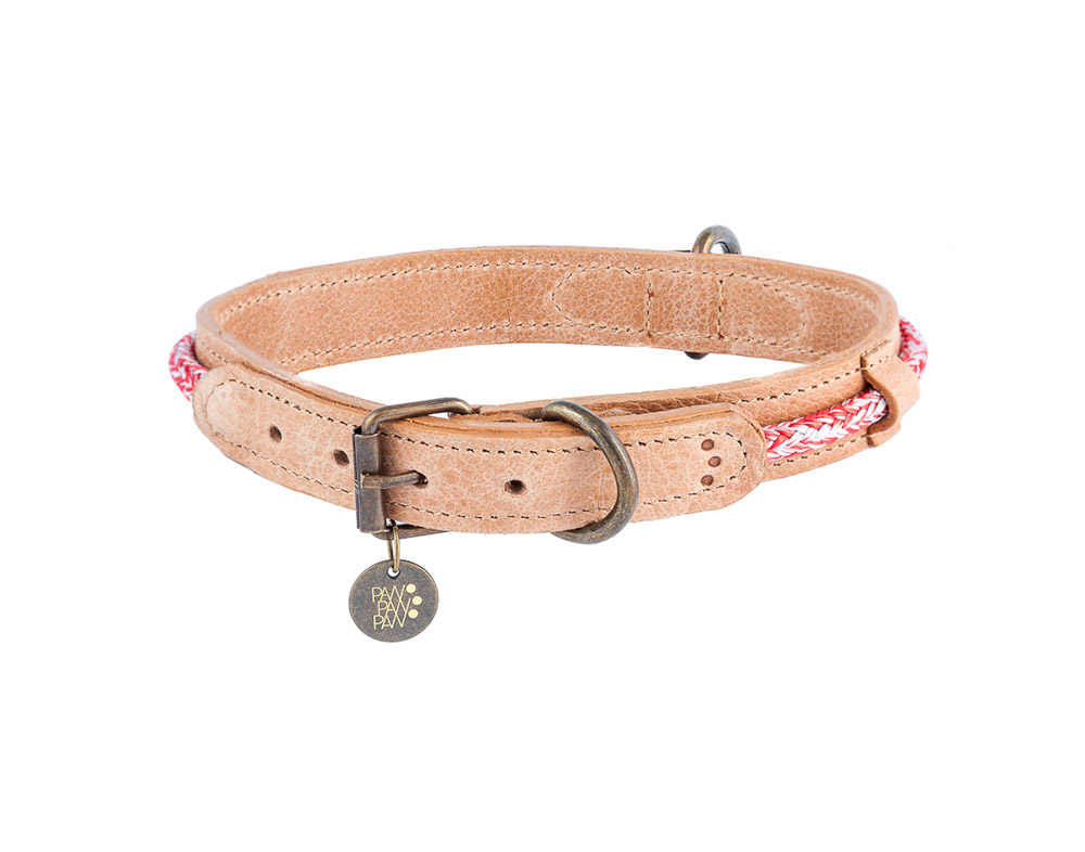 Leather Collar Hafen Red