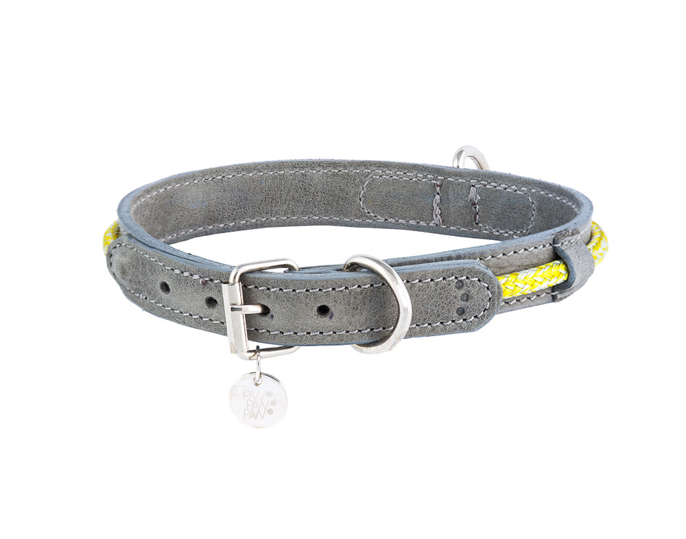 Leather Collar Hafen Yellow