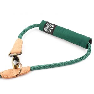 soft handle for rope leash green